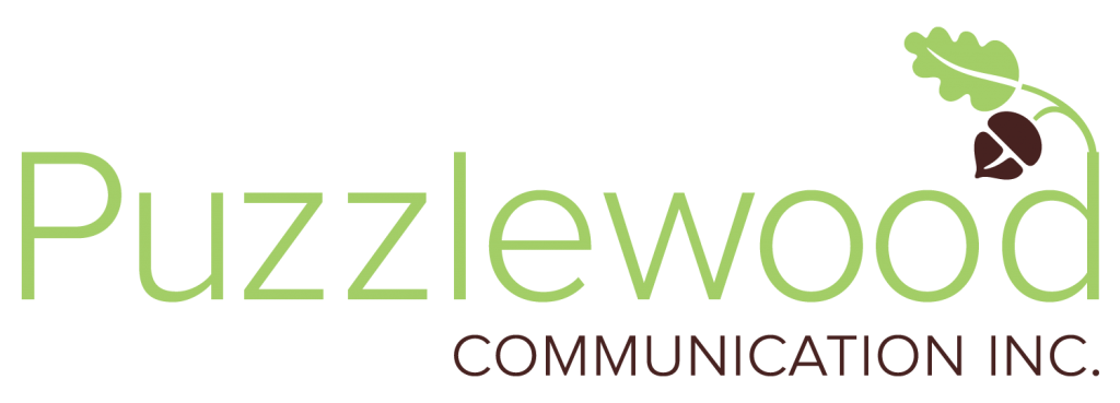 puzzlewood communication name and logo